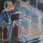 BBC Recording Contrabassoon, acrylic on canvas28 x 28 cm