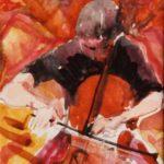 Playing Elgar, w/colour 15x20cm SOLD