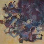 Prazak Shadows & Flowers, acrylic 42x48cm