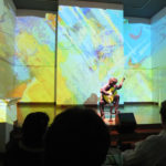Sketches of Mexico launch in London, Jaranas projected