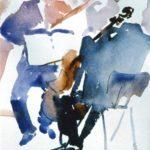 Quartet at the Barbican, w/colour 15x20cm SOLD