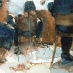 Barefoot Rehearsal, watercolour 15x20cm SOLD