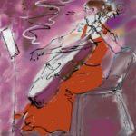 """Benyounes cellist 11x9"""" SOLD"""