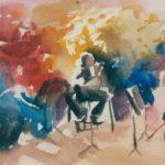 Mandolin concerto,w/colour 15x20cm SOLD