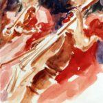 Study for violin and cello,w/colour 15x20cm SOLD